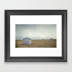 The Three Beach Huts Framed Art Print