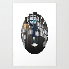 Portal 2 Isometric Poster Art Print