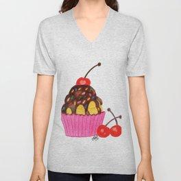 Cherry cupcake Unisex V-Neck