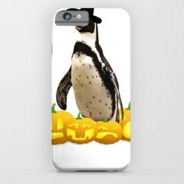Halloween Penguin Witch Hat Jackolanterns iPhone Case
