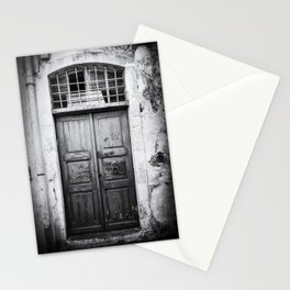 Doors of the World | Wooden Door in Rethymnon Crete, Greece, Europe | Black & White | Travel Photography | Photo Print | Art Print Stationery Cards
