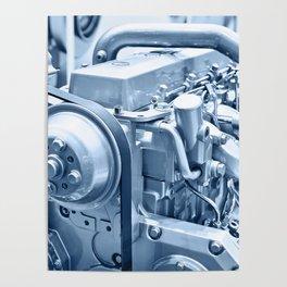 Turbo Diesel Engine Poster