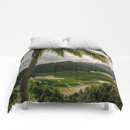 Hanalei Valley Lookout Kauai Hawaii   Tropical Island Nature Coastal Travel Photography Print Comforters