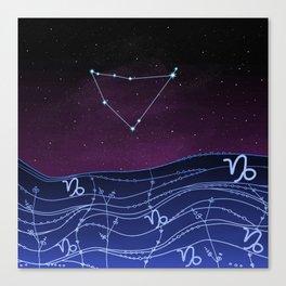Capricorn Zodiac Constellation Design Canvas Print