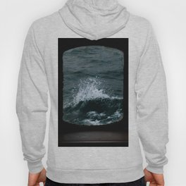 Wave out of a window of a ship – Minimalist Oceanscape Hoody