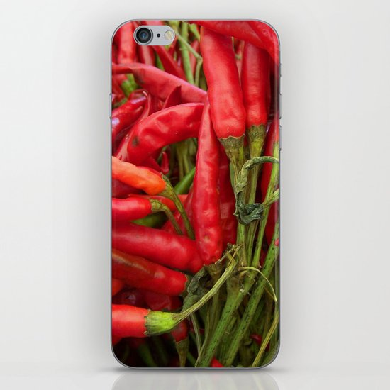 Red Peppers iPhone & iPod Skin