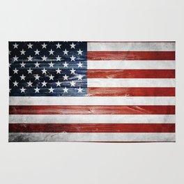 American Wooden Flag Rug