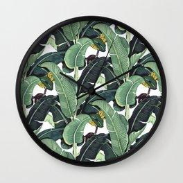 banana leaf pattern Wall Clock