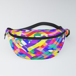 Psychedelic Pride Colors Pattern Fanny Pack
