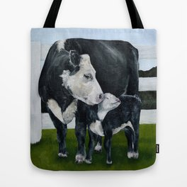 Mom and Baby Cows Tote Bag