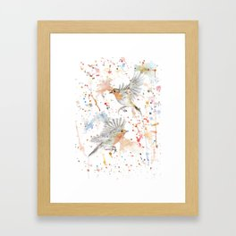 """Watercolor Painting of Picture """"Robins"""" Framed Art Print"""