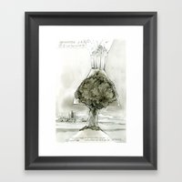 Volcano tree Framed Art Print