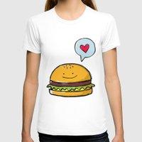 hamburger T-shirts featuring Hamburger Doodle by Andrea Tobar