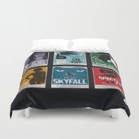 bond Duvet Covers featuring Bond #4 by Alain Bossuyt