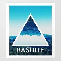 bastille Art Prints featuring BASTILLE by Hands in the Sky