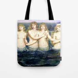 "Evelyn De Morgan ""The Sea Maidens"" Tote Bag"