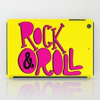 rock and roll iPad Cases featuring Rock & Roll by Chelsea Herrick