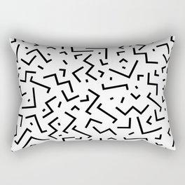 Memphis pattern 30 Rectangular Pillow