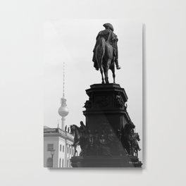 Berlin BW Metal Print