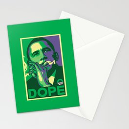 the dopest president Stationery Cards