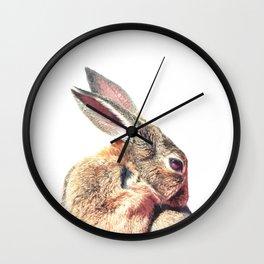 Rabbit Portrait Wall Clock