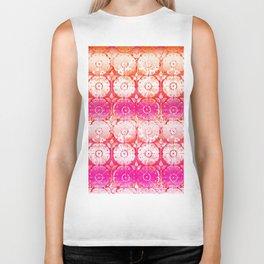 rose ombre in warm hues Biker Tank