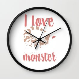 Alligator Herpetology Reptiles Cold Blooded Animal Gift I Love Gila Monster Wall Clock