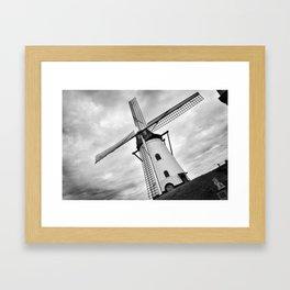 Windmill in Ostend, Belguim Framed Art Print