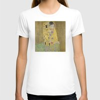 klimt T-shirts featuring The Kiss - Gustav Klimt by Elegant Chaos Gallery