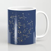 constellations Mugs featuring Constellations by Cina Catteau