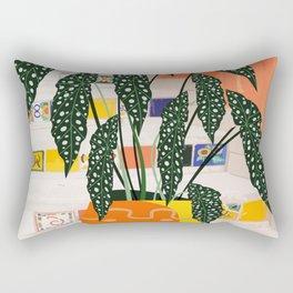 Dotted begonia #illustration Art Print Rectangular Pillow