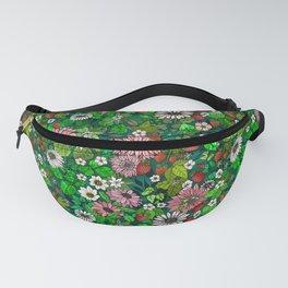 Summer Strawberry Garden Fanny Pack