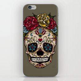 """SUGAR SKULL"" iPhone Skin"