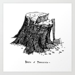 Birth of Pinocchio Art Print