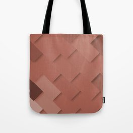 Terracotta pattern, layered like shingles, tiles or paint swatches you just cannot choose from! Tote Bag