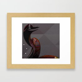 Mexican folk art coyote, Oaxacan style Framed Art Print