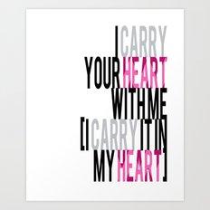 HEART CARRY Art Print