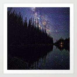 Campfire Under the Stars by OLena Art Art Print