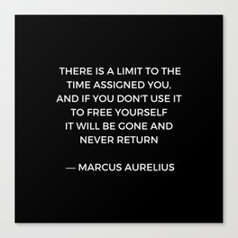 Stoic Inspiration - Marcus Aurelius on Time Canvas Print