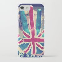 british flag iPhone & iPod Cases featuring british flag love by Starr Shaver