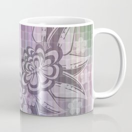 Abstract floral ornament on mosaic background Coffee Mug
