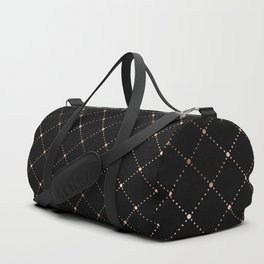 Black Diamond Pattern Duffle Bag