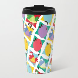 Chicken and Egg cartoon pattern Travel Mug