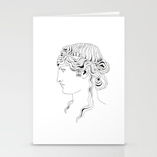 roman head Stationery Cards