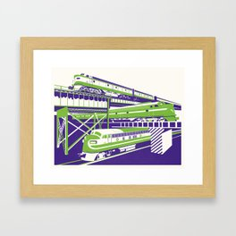 RVA Triple Crossing Framed Art Print