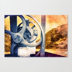 Braving the Canal Canvas Print