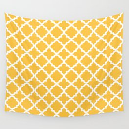 Yellow Vintage Pattern Wall Tapestry