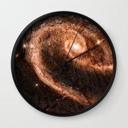 Dark Wood Energy Wall Clock