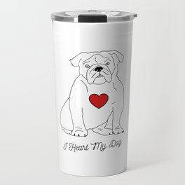 I HEART MY DOG Olde English Bulldog Travel Mug