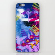 Wave purple iPhone & iPod Skin
